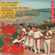 Discos de vinilo: FAICO Y JOSEFINA - JOTAS NAVARRAS LOS LABRADORES... - EP BELTER DE 1966 RF-1815, BUEN ESTADO. Lote 77284585