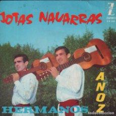 Discos de vinilo: HERMANOS ANOZ - JOTAS NAVARRAS -EP ZAFIRO DE 1964 RF-1825. Lote 77287517