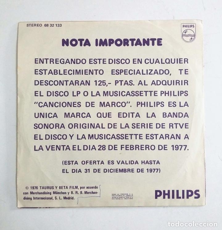Discos de vinilo: MARCO – DE LOS APENINOS A LOS ANDES / SOMOS DOS – VERSIÓN ORIGINAL DE LA SERIE RTVE - Foto 2 - 77288365