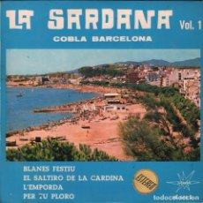 Discos de vinilo: LA SARDANA VOL. 1 COPLA BARCELONA. EP MARFER DE 1966 RF-1831 , BUEN ESTADO. Lote 77296669