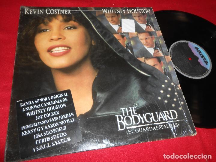 THE BODYGUARD EL GUARDAESPALDAS BSO OST LP 1992 WHITNEY HOUSTON EDICION ESPAÑOLA SPAIN (Música - Discos - LP Vinilo - Bandas Sonoras y Música de Actores )