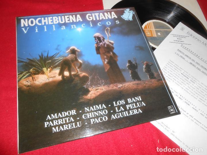 NOCHEBUENA GITANA VILLANCICOS LP 1990 HORUS EDICION ESPAÑOLA SPAIN LOS BANI+CHINNO+MARELU+ ETC (Música - Discos - LP Vinilo - Flamenco, Canción española y Cuplé)