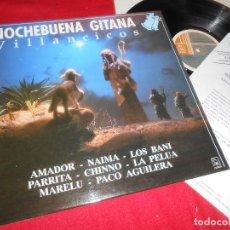 Discos de vinilo: NOCHEBUENA GITANA VILLANCICOS LP 1990 HORUS EDICION ESPAÑOLA SPAIN LOS BANI+CHINNO+MARELU+ ETC. Lote 77302657