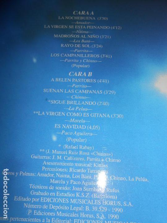 Discos de vinilo: NOCHEBUENA GITANA VILLANCICOS LP 1990 HORUS EDICION ESPAñOLA SPAIN LOS BANI+CHINNO+MARELU+ ETC - Foto 2 - 77302657