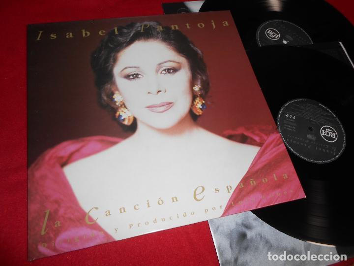 ISABEL PANTOJA LA CANCION ESPAÑOLA 2LP 1990 RCA GATEFOLD EDICION ESPAÑOLA SPAIN (Música - Discos - LP Vinilo - Flamenco, Canción española y Cuplé)