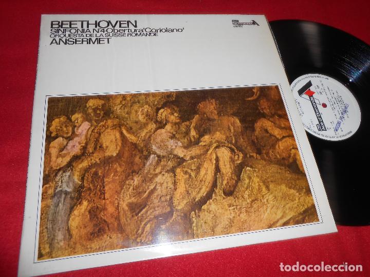 ORQUESTA DE LA SUISSE ROMANDE DIR. ANSERMET BEETHOVEN SINFONIA Nº4 LP 1972 ACAE OF DIAMONDS SPAIN (Música - Discos - LP Vinilo - Clásica, Ópera, Zarzuela y Marchas)