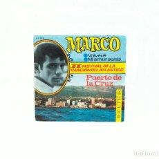 Discos de vinilo: EP. MARCO. VOLVERÉ/MI AMOR SERÁS. II FESTIVAL DE LA CANCIÓN DEL ATLÁNTICO. BELTER (NM-/NM-). Lote 102357726