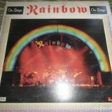 Discos de vinilo: RAINBOW - ON STAGE DOBLE LP - ORIGINAL INGLES - OYSTER/POLYDOR 1977 - GATEFOLD Y FUNDAS INT.. Lote 95840434