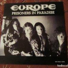 Discos de vinilo: EUROPE- MAXI- SINGLE DE VINILO - TITULO PRISONERS IN PARADISE- CON 3 TEMAS- ORIGINAL DEL 91. Lote 77372345