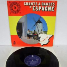 Discos de vinilo: CHANTS & DANCES D'ESPAGNE - CONNAISSANCES DU FOLKLORE VOL. 2 - LP - ZARAGOZA MADRID BILBAO ETC. RARE. Lote 77398137