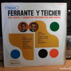 Discos de vinilo: FERRANTE & TEICHER COROS Y ORQUES.NICK PERITO LP 1961 SPAIN PDELUXE . Lote 77399513