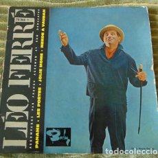 Discos de vinilo: LEO FERRE - PANAME + 3 - EP. Lote 77400589