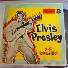 Discos de vinilo: ELVIS PRESLEY Y EL ROCK AND ROLL / ME ABANDONO MI NIÑA-ZAPATOS AZULES DE GAMUZA+2 / RCA 3-20161. Lote 77410649