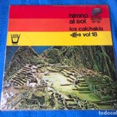 Discos de vinilo: LP - LOS CALCHAKIS - HIMNO AL SOL - EDICION ESPAÑOLA, ARION 1980. Lote 77436517
