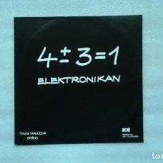 Discos de vinilo: TOMAS ARAGUES - ELEKTRONIKAN LP 1975 EDICION ESPAÑOLA. Lote 77437641