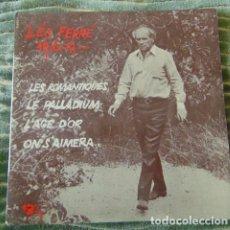 Discos de vinilo: LÉO FERRÉ – LES ROMANTIQUES + 3 - EP. Lote 77439585