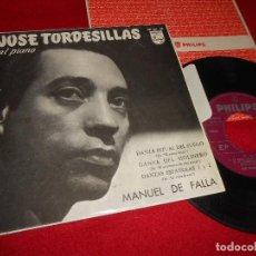 Discos de vinilo: JOSE TORDESILLAS EL AMOR BRUJO/EL SOMBRERO DE TRES PICOS +2 EP 1958 SPAIN RARO MANUEL DE FALLA. Lote 77443065