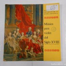 Discos de vinilo: MUSICA PARA VIOLIN DEL SIGLO XVIII. JOSE HERRANDO. MONUMENTOS HISTORICOS MUSICA ESPAÑOLA. TDKDA16. Lote 77446497