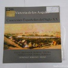 Discos de vinil: CANCIONES ESPAÑOLAS DEL SIGLO XX. VICTORIA DE LOS ÁNGELES. GONZALO SORIANO PIANO. TDKDA16. Lote 77446893
