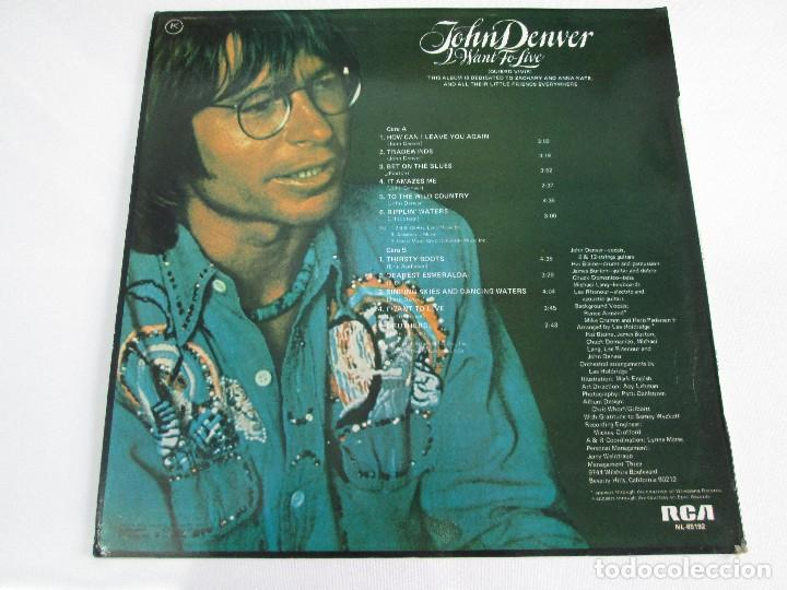 Discos de vinilo: DISCOS DE VINILO. JHON DENVER: I WANT TO LIVE. SPIRIT. POEMS, PRAYERS & PROMISES. VER FOTOGRAFIAS - Foto 6 - 77468373