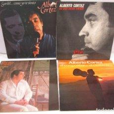 Discos de vinilo: DISCOS DE VINILO. ALBERTO CORTEZ: EN VIVO DESDE MADRID. CASTILLOS EN MADRID Y OTROS. VER FOTOS. Lote 77468713