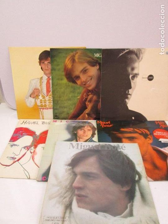 DISCOS DE VINILO. MIGUEL BOSE. SIETE ALBUNES. VER FOTOGRAFIAS ADJUNTAS (Música - Discos - Singles Vinilo - Cantautores Españoles)