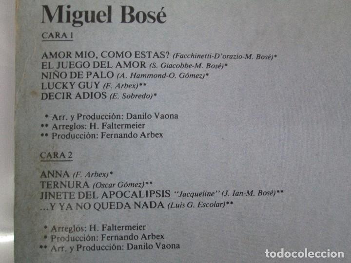 Discos de vinilo: DISCOS DE VINILO. MIGUEL BOSE. SIETE ALBUNES. VER FOTOGRAFIAS ADJUNTAS - Foto 5 - 77469013