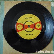 Discos de vinilo: BOB AND EARL – HARLEM SHUFFLE - SINGLE UK 1965. Lote 77472369