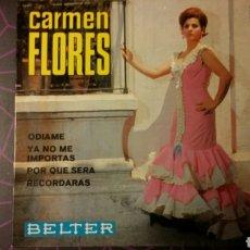 Discos de vinilo: CARMEN FLORES. ODIAME+3. BELTER 52.165. Lote 77492454