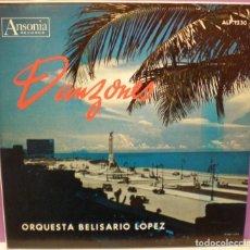 Dischi in vinile: DANZONES - ORQUESTA BELISARIO LOPEZ - LP. EDICIÓN AMERICANA. Lote 77529465