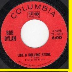 Discos de vinilo: BOB DYLAN - LIKE A ROLLING STONE / GATES OF EDEN 1965 !! COLUMBIA 4-43346, RARA ORG EDT USA !!. Lote 77537437