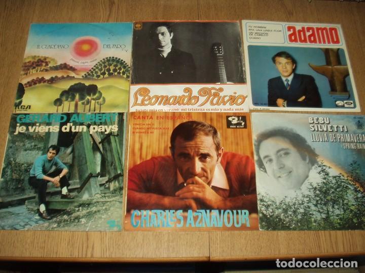 LOTE 25 SINGLES Y EPS FRANCESES E ITALIANOS AÑOS 60/70 (Música - Discos - Singles Vinilo - Canción Francesa e Italiana)