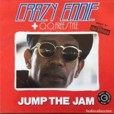 Discos de vinilo: CRAZY EDDIE & Q.Q. FREESTYLE - JUMP THE JAM . 1991 BLANCO Y NEGRO . Lote 77587597