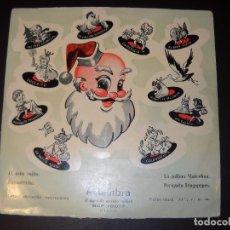 Discos de vinilo: ANTIGUO Y ÚNICO DISCO DE CUENTOS ALHAMBRA,EL ASNO COJITO,GOLONDRINITA,LA GALLINA MARCELINA,ETC... Lote 77635929