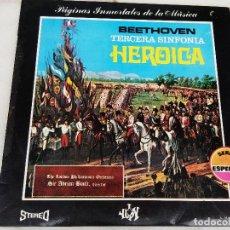 Discos de vinilo: BEETHOVEN TERCERA SINFONÍA OP. 55 HEROICA . Lote 77641897