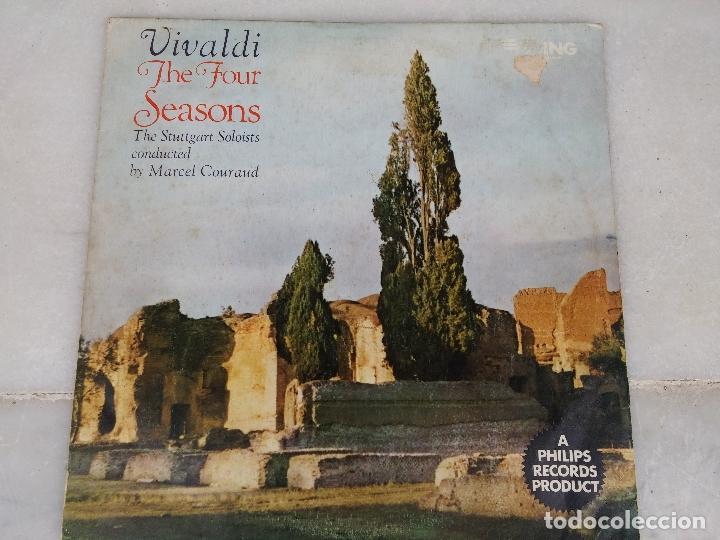 VIVALDI - THE FOUR SEASONS - THE STUTTGART SOLOISTS CONDUCTED BY MARCEL COURAUD (Música - Discos - Singles Vinilo - Clásica, Ópera, Zarzuela y Marchas)