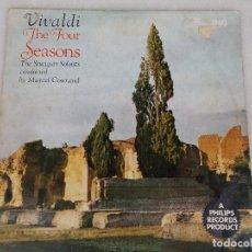 Discos de vinilo: VIVALDI - THE FOUR SEASONS - THE STUTTGART SOLOISTS CONDUCTED BY MARCEL COURAUD. Lote 77648569