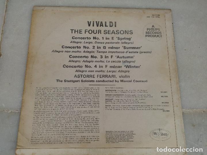 Discos de vinilo: Vivaldi - The four seasons - The Stuttgart Soloists conducted by Marcel Couraud - Foto 8 - 77648569