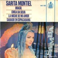 Discos de vinilo: EP SARA MONTIEL ( DE LA PELICULA SAMBA ) : BRASIL + 3 . Lote 77662085