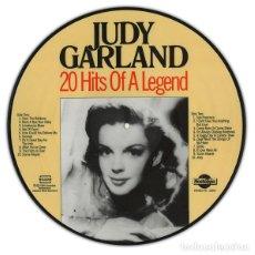 Discos de vinilo: JUDY GARLAND * LP PICTURE DISC * 20 HITS OF A LEGEND * FOTODISCO * MUY RARO * NUEVO. Lote 222724438
