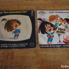 Discos de vinilo: LOTE 2 EP: LOS CHAVALITOS TV AÑOS 60. Lote 77725177
