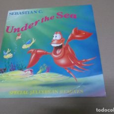 Discos de vinilo: SEBASTIAN C. (MX) UNDER THE SEA +3 TRACKS AÑO 1990. Lote 77831669