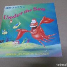 Discos de vinilo: SEBASTIAN C. (MX) UNDER THE SEA +3 TRACKS AÑO 1990. Lote 77831669