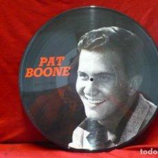 Discos de vinilo: PAT BOONE - GREATETS HITS, PICTURE DISC, 1985, TEMAS EN DESCRIPCION.. Lote 77868865