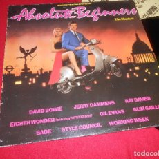 Discos de vinilo: ABSOLUTE BEGINNERS LP 1986 VIRGIN EDICION ESPAÑOLA SPAIN VESPA DAVID BOWIE + GIL EVANS + RAY DAVIES . Lote 77874693