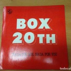 Discos de vinilo: MAXI ITALO DISCO BOX 20TH NADA FOR ME NADA FOR YOU SUPER DIFICIL EDITADO EN ESPAÑA DISCOS VICTORIA. Lote 77896689