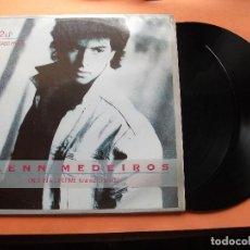 Discos de vinilo: GLENN MEDEIROS. DOBLE LP. MERCURY ONCE IN A LIFETIME CON ENCARTES PEPETO. Lote 77905909