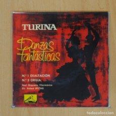 Discos de vinilo: TURINA - N 1 EXALTACION / N 3 ORGIA - SINGLE. Lote 77912777