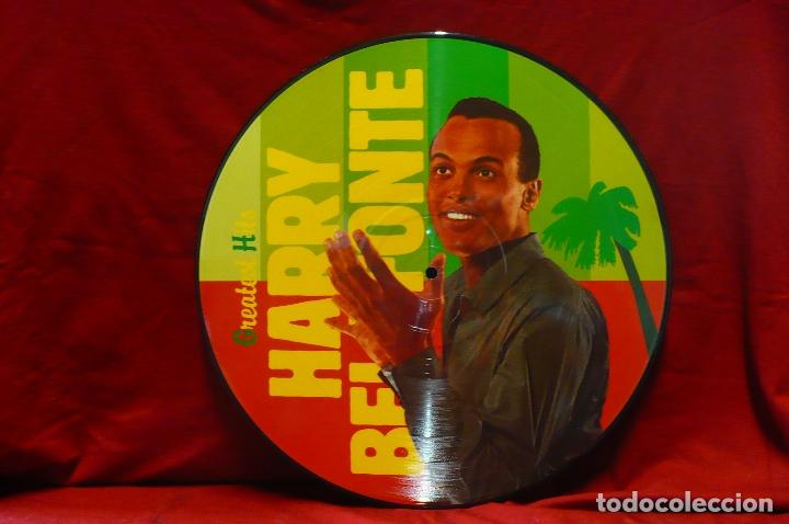 HARRY BELAFONTE - GREATEST HITS, CALYPSO, PICTURE DISC, 1987, TEMAS EN DESCRIPCION. (Música - Discos de Vinilo - EPs - Reggae - Ska	)