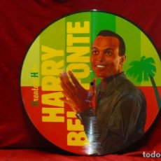 Discos de vinilo: HARRY BELAFONTE - GREATEST HITS, CALYPSO, PICTURE DISC, 1987, TEMAS EN DESCRIPCION.. Lote 77915813